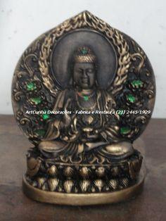 Buda 17 cm #Buda #Buddha #Budismo #Artesanato #Gesso ArtCunha (21) 2445-1929 / 8558-3595. Est. Bandeirantes, 829, #Taquara, #Rio de Janeiro, #RJ #Buda #Budismo #Buddha #Artesanato #Gesso #ArtCunha #Arte #Artes #Decoracao #estatua #Escultura #Estatuas #Esculturas