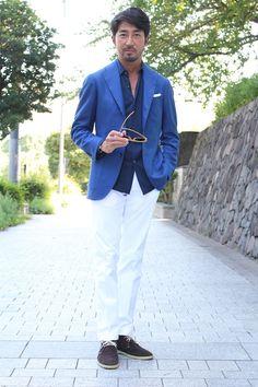 Variations of blue / Couleur veste / Coupe