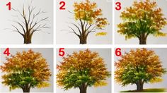 How to Paint a Tree with Acrylic lesson 15