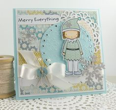"""I made this for the MFTWSC98 sketch challenge.  I used the darling """"Elf Girl"""" Pure Innocence stamp just released for November."""
