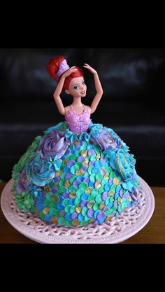 Mermaid dolly varden cake