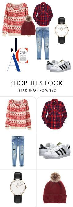 """cozy"" by fromnorah on Polyvore featuring Aéropostale, adidas Originals, Daniel Wellington and Helen Moore"
