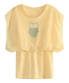 Another great find on #zulily! Yellow Owl Bubble Peplum Dress - Infant & Girls #zulilyfinds