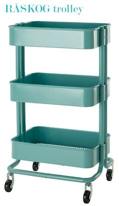 IKEA Raskog trolley -- bedside table? or if it's too tall for that then a corner table in the guest room? $49--I want one or two