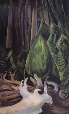 Emily Carr, Sea Drift at the edge of the forest Canadian Group of Seven Emily Carr Paintings, Paintings For Sale, Canadian Painters, Canadian Artists, Arbutus Tree, Group Of Seven Paintings, Tom Thomson, Impressionist Paintings, Landscape Paintings