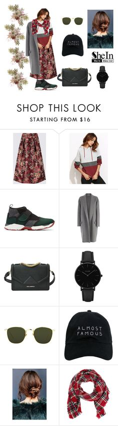 """""""shein"""" by buddhakitty ❤ liked on Polyvore featuring Marni, CÉLINE, Karl Lagerfeld, CLUSE, Linda Farrow, Nasaseasons, Urban Outfitters and Look by M"""