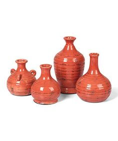 Would be nice to decorate near the spa tub...This Persimmon Prosecco Bud Vase Set is perfect! #zulilyfinds