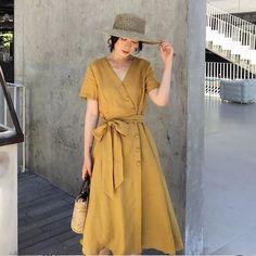 Modest Dresses, Modest Outfits, Simple Dresses, Cute Dresses, Casual Dresses, Hijab Fashion, Korean Fashion, Boho Fashion, Fashion Dresses