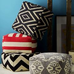How to Create Your Own Colorful Jumbo Floor Pillows | Giant floor ...