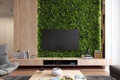 green TV wall