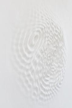 Loris Cecchini, Wallwave Vibration (Asynchronous Emotion), 2012 (Polyester resin, paint) more EXQUISITEness inside