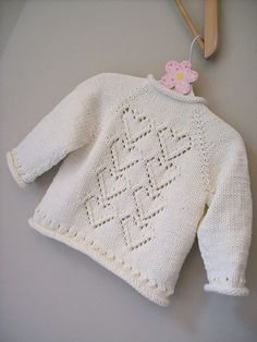 Baby Knitting Patterns Ravelry Ravelry: Project Gallery for Cupid pattern by Melissa Schaschwary Knitting For Kids, Baby Knitting Patterns, Baby Patterns, Knitting Ideas, Knitting Stitches, Free Knitting, Knitting Projects, Knit Baby Sweaters, Knitted Baby Clothes