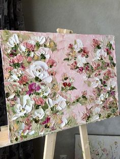 Dusty pink painting with white roses Green flower shrub, Decoration for bedroom Abstraction with flowers, Palette knife Made to order Pink Painting, Oil Painting Abstract, Knife Art, Palette Knife Painting, White Roses, Painting Inspiration, Canvas Art, Dusty Pink, Dusty Rose