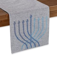 Add some festive cheer to your table with the Modern Menorah Table Runner by Sam Hedaya. This elegant table runner is the perfect addition to your holiday décor for those beautiful Hanukkah nights. Hanukkah Lights, Hanukkah Crafts, Hanukkah Candles, Hanukkah Decorations, Hanukkah Menorah, Christmas Hanukkah, Happy Hanukkah, Christmas Decor, Arte Judaica