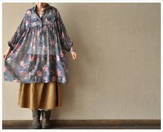 Casual Long Sleeve Blouse Shirt for Autumn and Spring - Floral. $49.00, via Etsy.