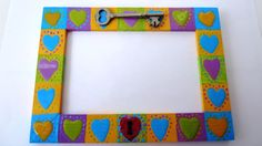 3 x 5 Valentine's Day recycled picture frame by VeeHandPainted on Etsy