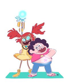 """OP: """"Sari Sumdac and Steven Universe are the best half-alien children being raised by aliens and also their dads.""""   Steven Universe   Transformers Animated"""