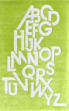 Hand Tufted Chartreuse Area Rug