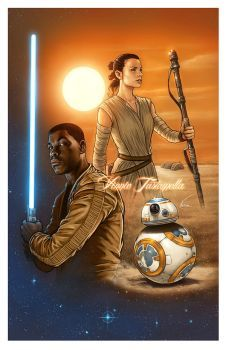 Star Wars: Rey and BB-8 by daekazu on DeviantArt