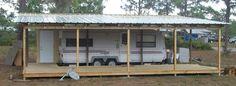 Shelter/porch over camper