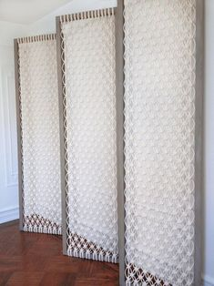 Large Macrame Room Divider - Screen