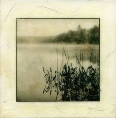 Vicky Reed- Encaustic series,2011 -Wood, rice paper, pigmented ink, wax, and damar resin
