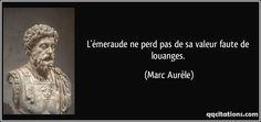 L'émeraude ne perd pas de sa valeur faute de louanges. (Marc Aurèle) #citations #MarcAurèle