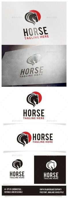 Horse Logo — JPG Image #dark horse #electronic • Available here → https://graphicriver.net/item/horse-logo/12575122?ref=pxcr