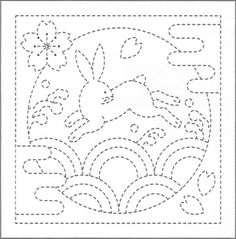 Bunny 90 - Sashiko White Sampler with Thread