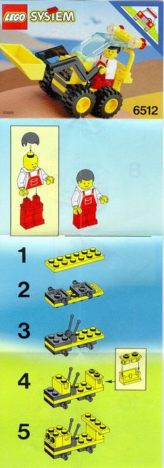 Set Number: 6512 Set Theme: System Town Set Name: Landscape Loader Year: 1992 Lego City Sets, Lego Sets, Hobbies And Crafts, Diy And Crafts, Used Legos, Vintage Lego, Lego Group, Lego Projects, City Landscape