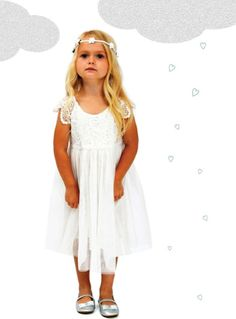 Designer Kidz Angelique Butterfly Dress - $44.95 - Whether it's a special occasion, a birthday party or just a little ladies high tea this divine Angelique Butterfly dress by Designer Kidz is perfect!  Beautiful, stylish and vintage inspired this gorgeous little girls dress features crochet detail on sleeves and bodice plus a multi layer tulle skirt - your little miss will adore twirling away in this dress! #littlebooteek #girls #fashion #partydress #designer #designerkidz