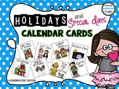 Holidays and Special Days Calendar Cards