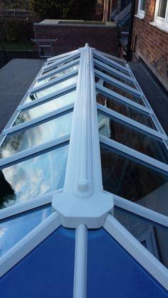 Roof lantern skylight - upvc glazed - Conservatory/flat roof assembly