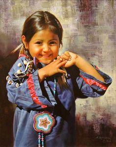 Alfredo Rodriguez (AMERICAN INDIAN ART) 5  - What a joyful little girl. There is nothing more beautiful than a happy child.                                                                                                                                                                                 Plus