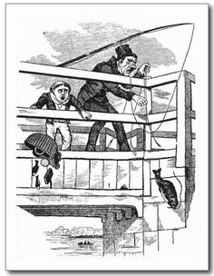 The One That Got Away - Fishing Postcard. Vintage hard luck fishing fables! http://www.zazzle.com/the_one_that_got_away_fishing_postcard-239672732011515929 #fishing #card #postcard #humor #humour #vintage