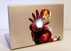 Iron man in macbook
