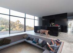room 11 modern architectural design  Zitkuil bij keuken, ramen tot plafond