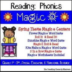 Great Phonics Games to Practice Magic (Silent) e Set Includes: Flower Magic e Word Game(s) Magic E Roll & Read It! (Words & Sentences) Sunshine Magic e Word Game(s) Magic E Roll & Read Kite Make a Magic e Word Game: 5 In a Row Magic e Game Magic e Worksheets
