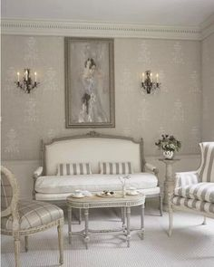 french country decorating ideas for living room French Decor, French Country Decorating, Living Room Decor, Living Spaces, Living Rooms, Sweet Home, Romantic Room, French Furniture, Grey Furniture