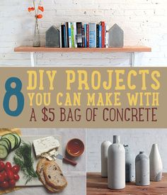 DIY Concrete Crafts | These DIY ideas are so practical and unique. We love the designs and creativity. #DIYready www.diyready.com