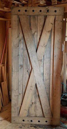 X Brace Barn Door Sliding Wooden Door Barn Door with or Custom Wood Doors, Wooden Doors, Rustic Doors, Barnwood Doors, Rustic Barn, Interior Barn Doors, Exterior Doors, Interior Columns, Interior Design