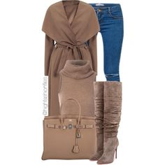 Feeling Winter by highfashionfiles on Polyvore featuring мода, Kori, Christian Louboutin and Hermès