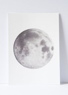 Watercolour Moon Print, Moon art, Space Art, Lunar art, moon painting, science drawing, watercolor painting, moon drawing, planets and moons