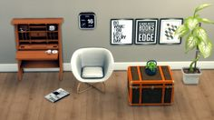 Suitcase Table + Craftsman Desk + Muika Chair at Leo Sims via Sims 4 Updates Check more at http://sims4updates.net/furniture/suitcase-table-craftsman-desk-muika-chair-at-leo-sims/