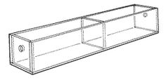 """Mini Tray-1"""" H x 10"""" W x 1-3/4"""" D.  Two 4 3/4""""-wide compartments."""