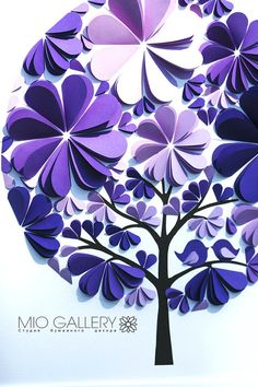 Unique and exclusive to Mio Gallery, this tree wedding guest book will amaze and delight your guests on your wedding day. Featuring 3D paper leaves and birds in gorgeous purple and lilac colors, this wedding guest book is going to be a keepsake to be cherished forever. Mio Gallerys wedding