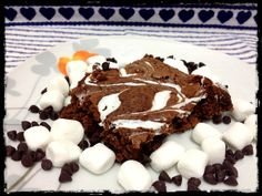Hot Chocolate Marshmallow Brownies   HungryLittleGirl