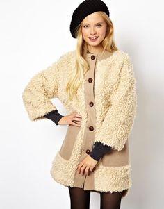ASOS Longline Teddy Faux Fur Coat -- $118