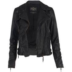 Herero Leather Biker Jacket - AllSaints - Polyvore