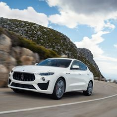 The new 2019 Maserati Levante GTS is aimed squarely at the Cayenne Turbo. The high-performance SUV is powered by a Ferrari-built twin-turbo tuned to 550 horsepower at 6250 rpm and 538 pound-feet at rpm. Tap the link in bio for the full story. Luxury Car Brands, Luxury Cars, My Dream Car, Dream Cars, Maserati Levante, Ferrari, Cayenne Turbo, Cars Uk, Motorcycle Design